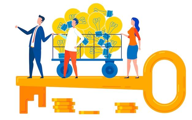 Buone idee e gestione chiave per il successo