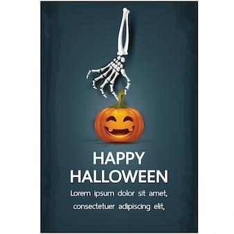 Buone vacanze di halloween con scritte
