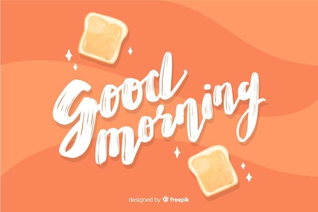 Buongiorno creativo lettering sfondo