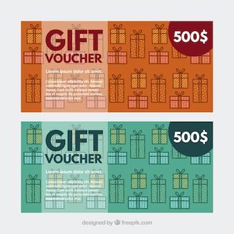 Buoni regalo con i regali decorativi