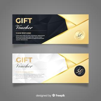 Buono regalo elegante con stile dorato