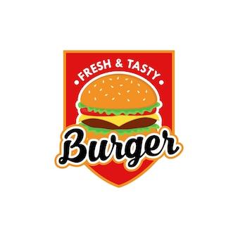 Burger logo design vettoriale