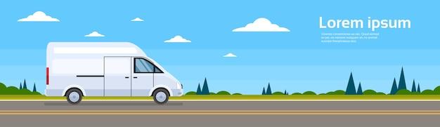 Bus commerciale di trasporto di car car on road su strada