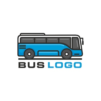 Bus, modello di vettore di logo di autobus di viaggio