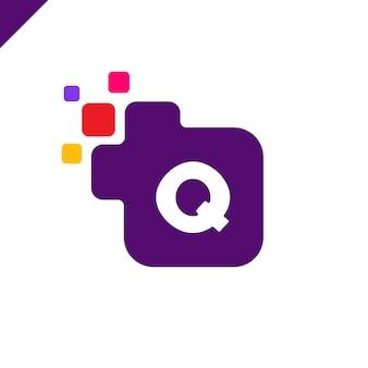 Business aziendale lettera quadrata q logo design di carattere