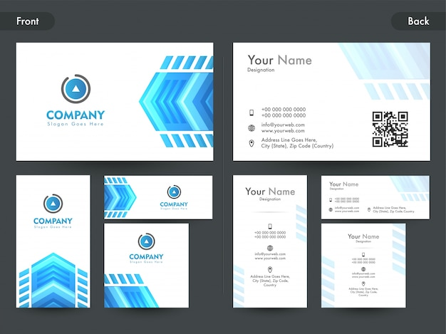 Business business o visiting card con elemento astratto.