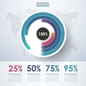 Business cerchio infografica