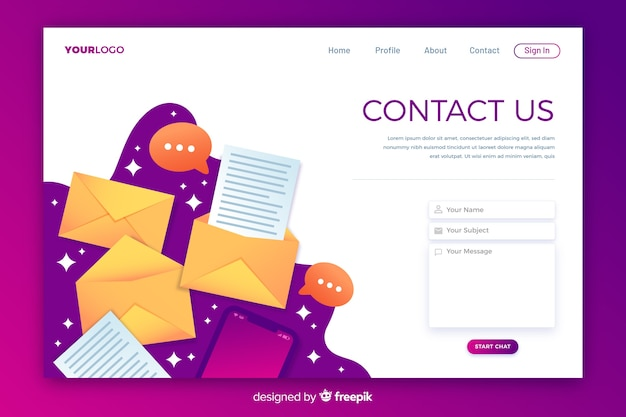 Business contattaci landing page