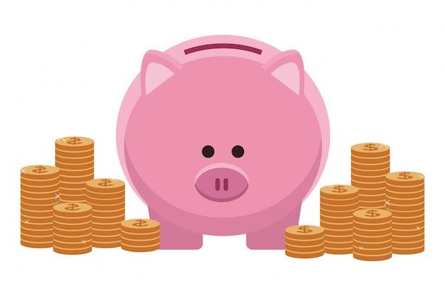 Business denaro elemento di risparmio