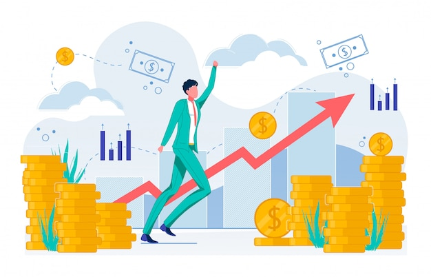 Business in crescita, aumento del reddito piatto.