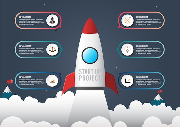 Business infographic start up style