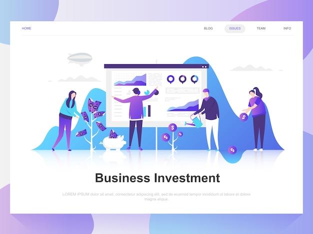 Business moderno concetto di design piatto di investimento.