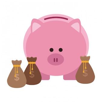 Business risparmio elemento di denaro