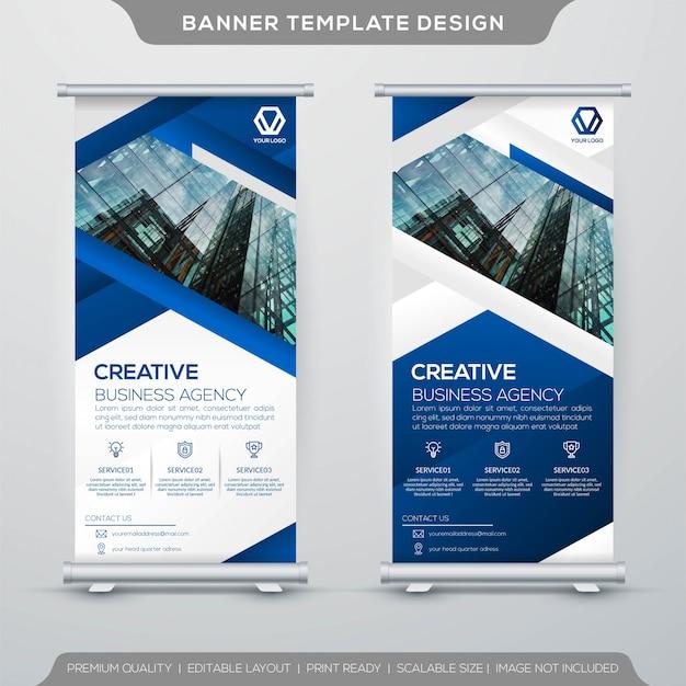 Business roll up banner modello di progettazione
