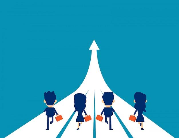 Business team in corsa verso il successo
