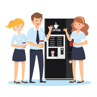 Business team in pausa caffè