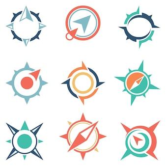 Bussola icona simbolo astratto globale
