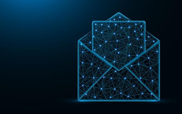 Busta di posta aperta poli design