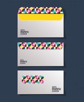 Buste con copertina geometrica