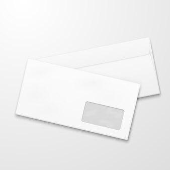 Buste di carta bianca email marketing concetto di vettore