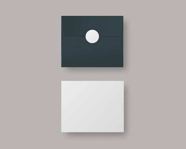 Buste realistiche. busta con modello di carta. isolato. modello di progettazione.