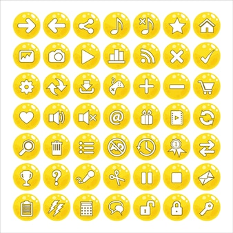 Button gui style jelly color yellow.