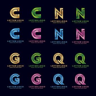 C, n, g, q, logo di lusso