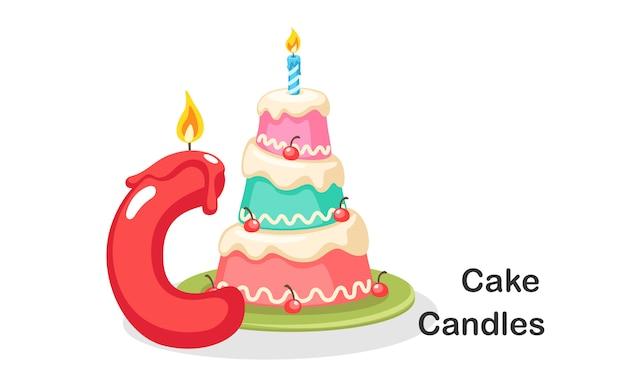 C per le candele torta