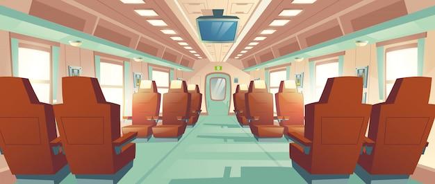 Cabina del treno proiettile vettoriale, carrozza ferroviaria espressa