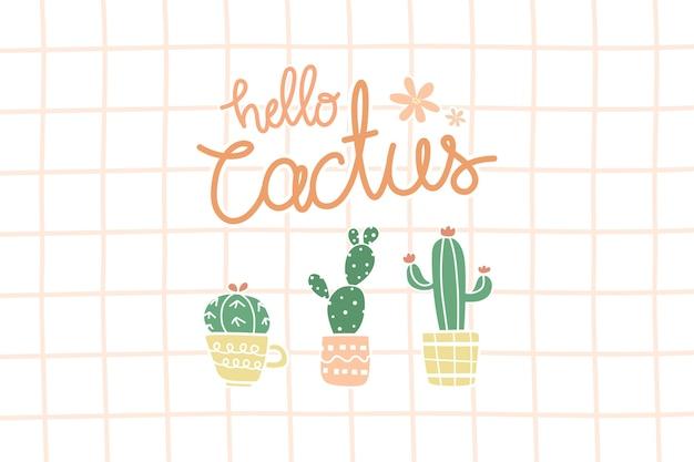 Cactus carino in vaso