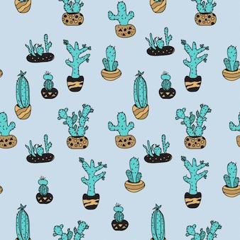 Cactus pattern seemless 2