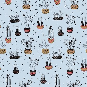 Cactus pattern seemless 3