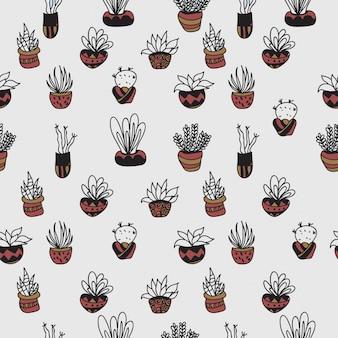 Cactus pattern seemless 5