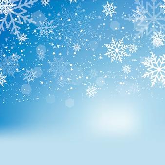 Caduta di neve o fiocchi di neve splendente. vettore.