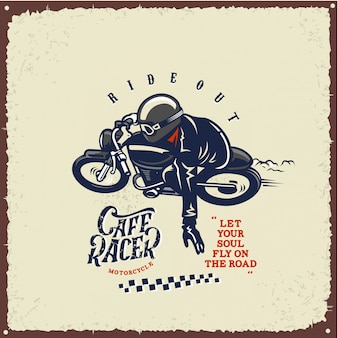Cafe racer ride out motor poster
