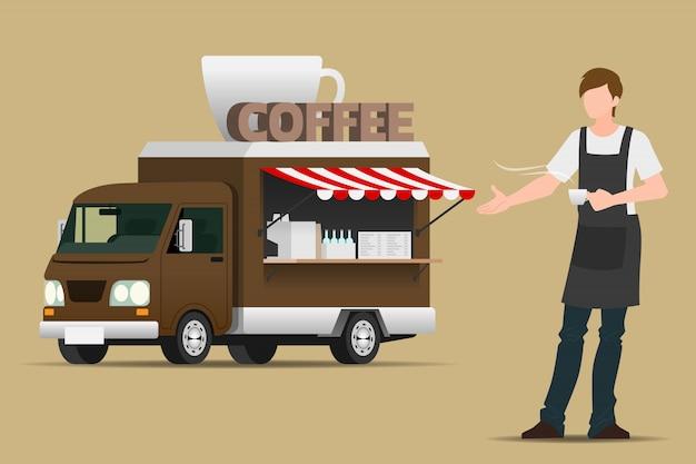 Caffè camion per alimenti.