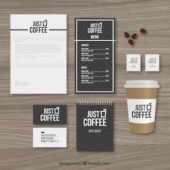 Caffè cartoleria pacchetto
