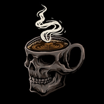 Caffè con teschio
