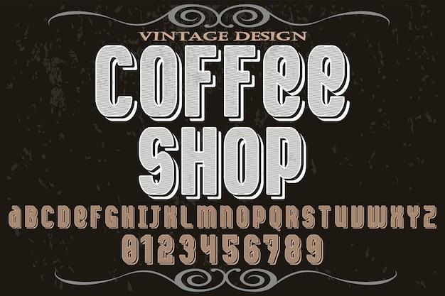 Caffetteria di alfabeto