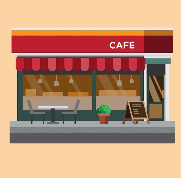 Caffetteria, illustrazione design piatto caffè