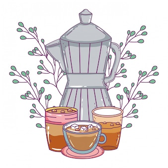 Caffettiera isolata