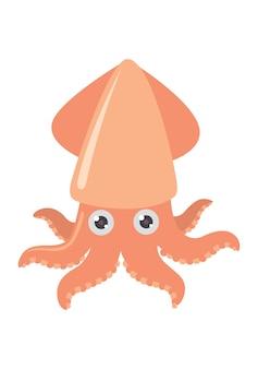 Calamaro dei cartoni animati isolato