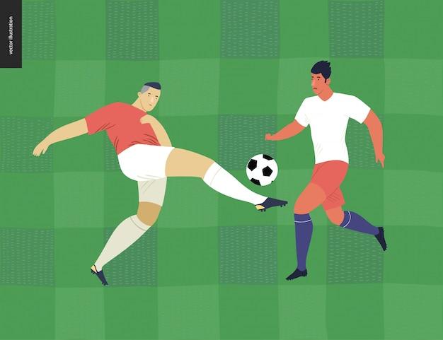 Calcio europeo, calciatore