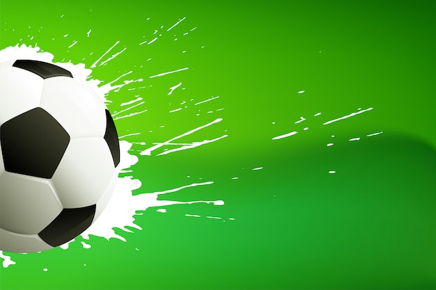 Calcio; o sfondo verde calcio con spazio testo