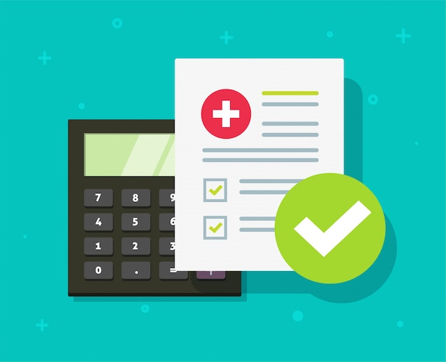 Calcolatore piano della lista di controllo della copertura di reclamo di rischio di vita del documento di assistenza sanitaria di assistenza sanitaria medica o del documento sanitario di assistenza sanitaria statale