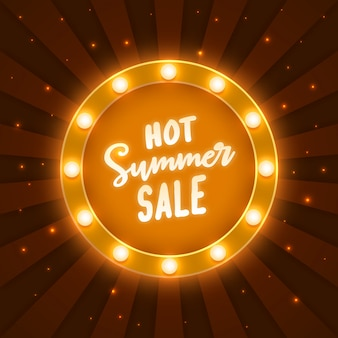 Calda cornice di vendita estiva