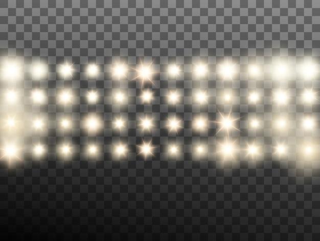 Calda luce beige da palcoscenico o da stadio. sfondo trasparente solo in