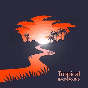 Caldo paesaggio tropicale