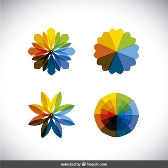 Caleidoscopio colorato forme di raccolta