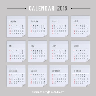 Calendario 2015 di vettore